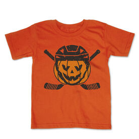Hockey Toddler Short Sleeve Tee - Helmet Pumpkin