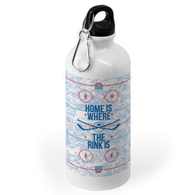 Hockey 20 oz. Stainless Steel Water Bottle - Home Is Where The Rink Is (Rink)