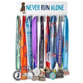 Running Hooked on Medals Hanger - Never Run Alone