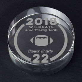 Football Personalized Engraved Crystal Gift - Custom Team Award