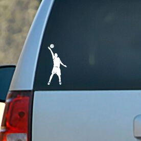 Vinyl Car Decal Basketball Guy Reaching Silhouette