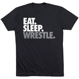 Wrestling T-shirt Short Sleeve Eat. Sleep. Wrestle.