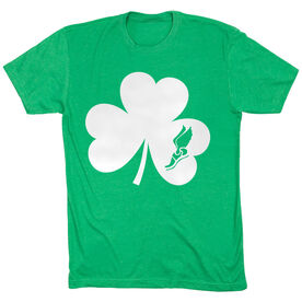 Track and Field Short Sleeve T-Shirt - Shamrock With Winged Foot Cutout