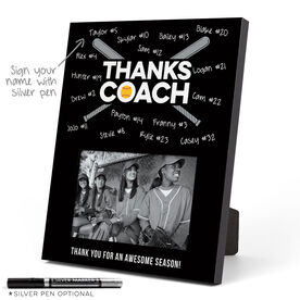 Softball Photo Frame - Coach (Autograph)