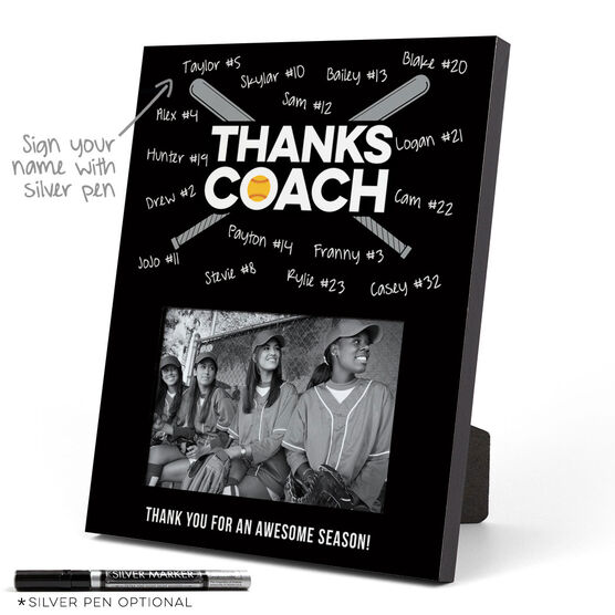 Softball Photo Frame - Coach (Autograph)