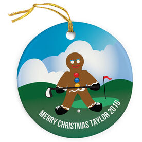 Golf Porcelain Ornament Gingerbread Man