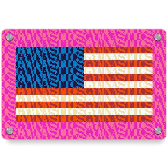 Gymnastics Metal Wall Art Panel - American Flag Mosaic