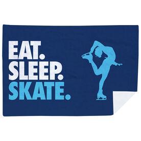 Figure Skating Premium Blanket - Eat. Sleep. Skate. Horizontal