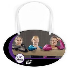 Gymnastics Oval Sign - Team Photo and Logo