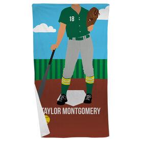 Softball Beach Towel - Softball Player