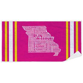Running Premium Beach Towel - Missouri State Runner