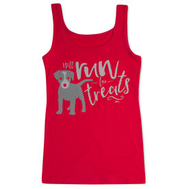 Women's Athletic Tank Top Will Run For Treats