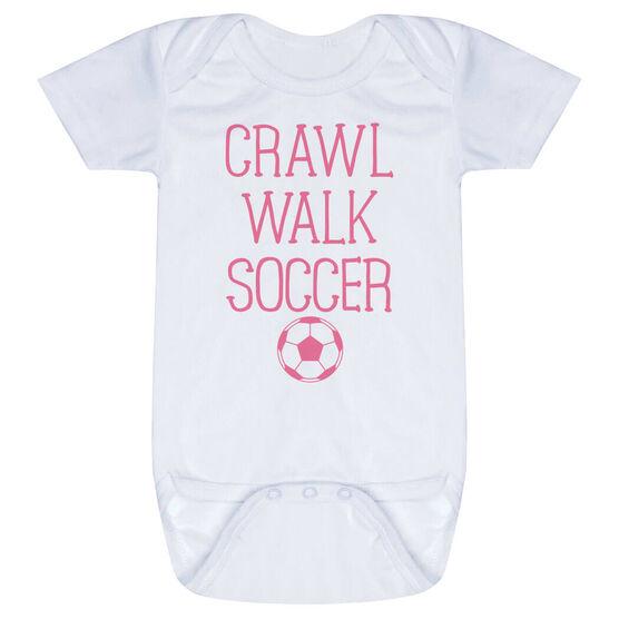 Soccer Baby One-Piece - Crawl Walk Soccer