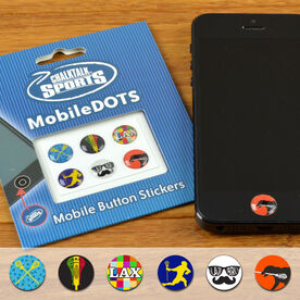 Lacrosse Guy MobileDOTS Home Button Sticker for iPhone and iPad