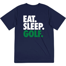 Golf Short Sleeve Tech Tee - Eat. Sleep. Golf.
