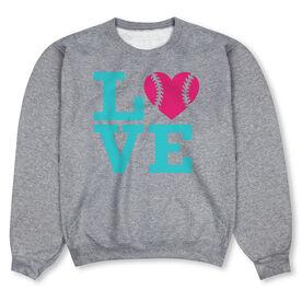 Softball Crew Neck Sweatshirt - Love Softball