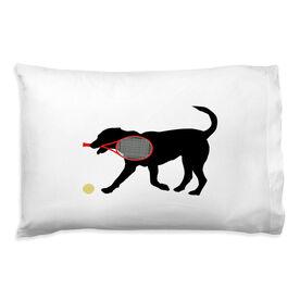 Tennis Pillowcase - Dennis The Tennis Dog
