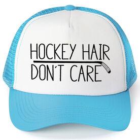 Hockey Trucker Hat - Hockey Hair Don't Care