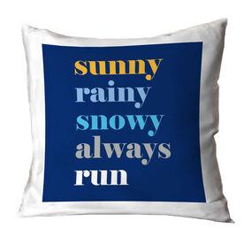 Running Throw Pillow - Weather Mantra