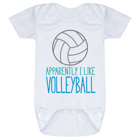 Volleyball Baby One-Piece - Apparently, I Like Volleyball