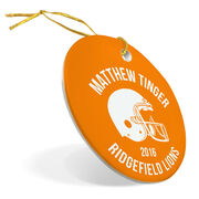 Football Porcelain Ornament Personalized Team with Football Helmet