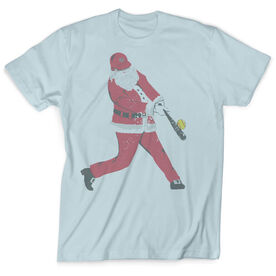 Vintage Softball T-Shirt - Home Run Santa