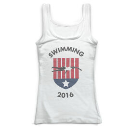 Swimming Vintage Fitted Tank Top - Your Logo