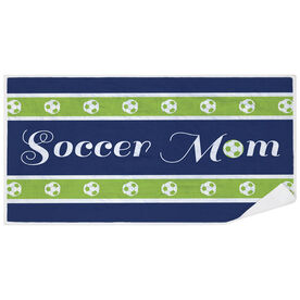 Soccer Premium Beach Towel - Mom Stripe