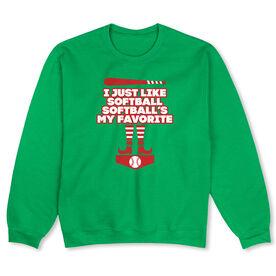 Softball Crew Neck Sweatshirt (Special Edition) - Softball's My Favorite