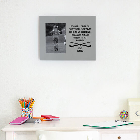 Field Hockey Photo Frame - Dear Mom Heart
