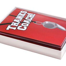 Thanks Coach - MySPORT Card (Coach Whistle Red) - Box Set of 12