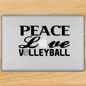 Volleyball Removable Laptop Decal Peace Love Volleyball Words