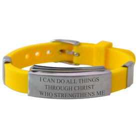 All Things Through Christ... Quote Silicone Bracelet