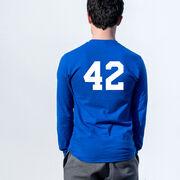 Guys Lacrosse Tshirt Long Sleeve - Lacrosse's My Favorite