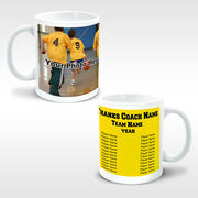 Basketball Coffee Mug Thanks Coach Custom Photo With Team Roster