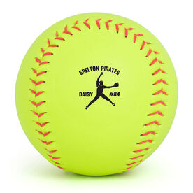 Personalized Softball - Pitcher With Team Name