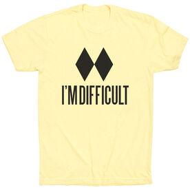 Skiing & Snowboarding Short Sleeve T-Shirt - I'm Difficult