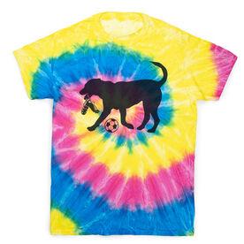 Soccer Short Sleeve T-Shirt - Soccer Dog Tie Dye