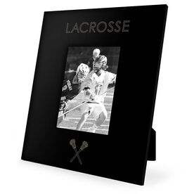 Guys Lacrosse Engraved Picture Frame - Simple Lacrosse