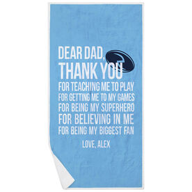 Rugby Premium Beach Towel - Dear Dad