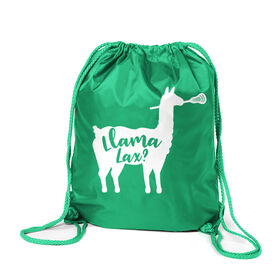 Girls Lacrosse Sport Pack Cinch Sack - Llama Lax
