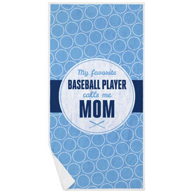Baseball Premium Beach Towel - My Favorite Player