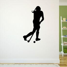 Field Hockey Player Removable ChalkTalkGraphix Wall Decal