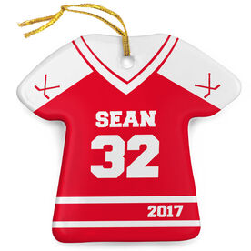 Hockey Porcelain Ornament Personalized Jersey