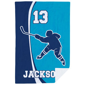 Hockey Premium Blanket - Personalized Slapshot