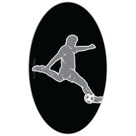 Soccer Oval Car Magnet Guy