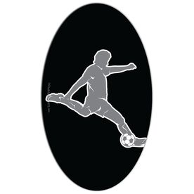 Soccer Oval Car Magnet Guy