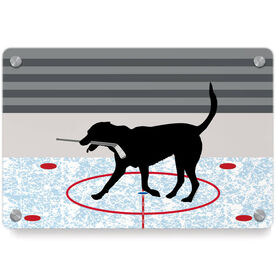 Hockey Metal Wall Art Panel - Howe The Hockey Dog