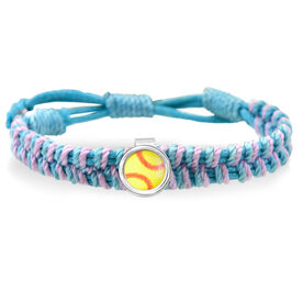Softball Adjustable Woven SportSNAPS Bracelet