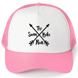 Triathlon Trucker Hat - Crossed Arrows